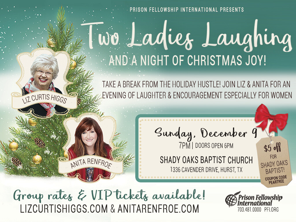 Two Ladies Laughing and A Night of Christmas Joy!