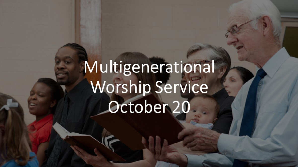 Intergenerational Worship Service