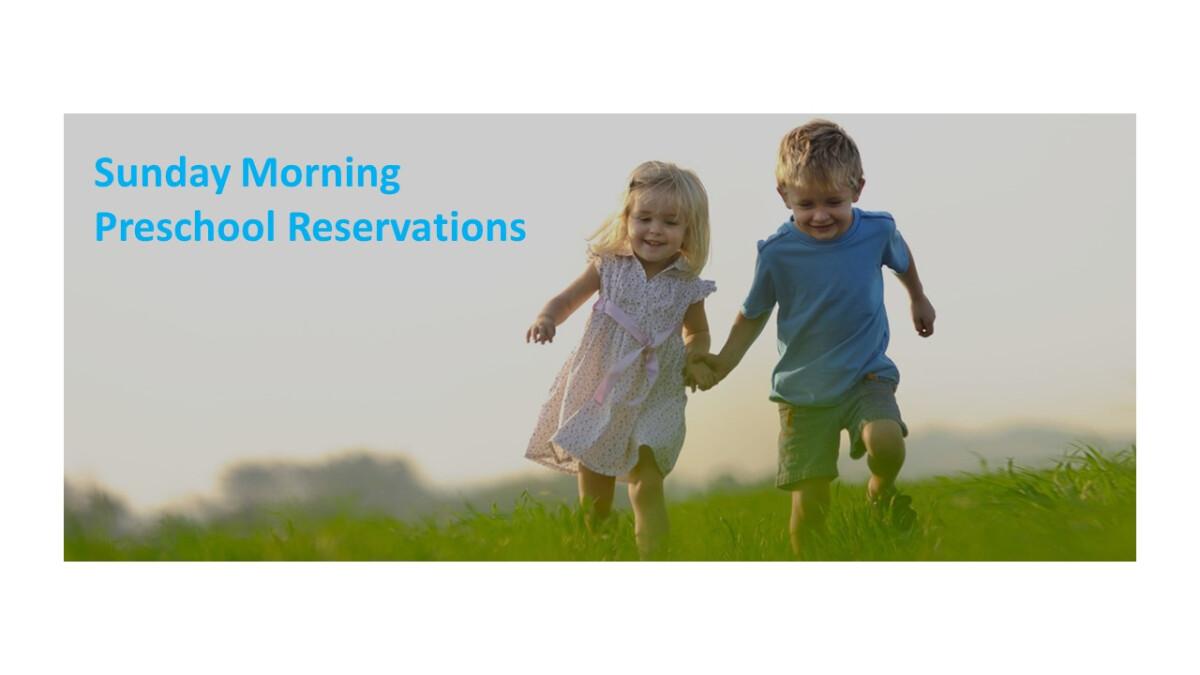 Preschool Sunday Registration