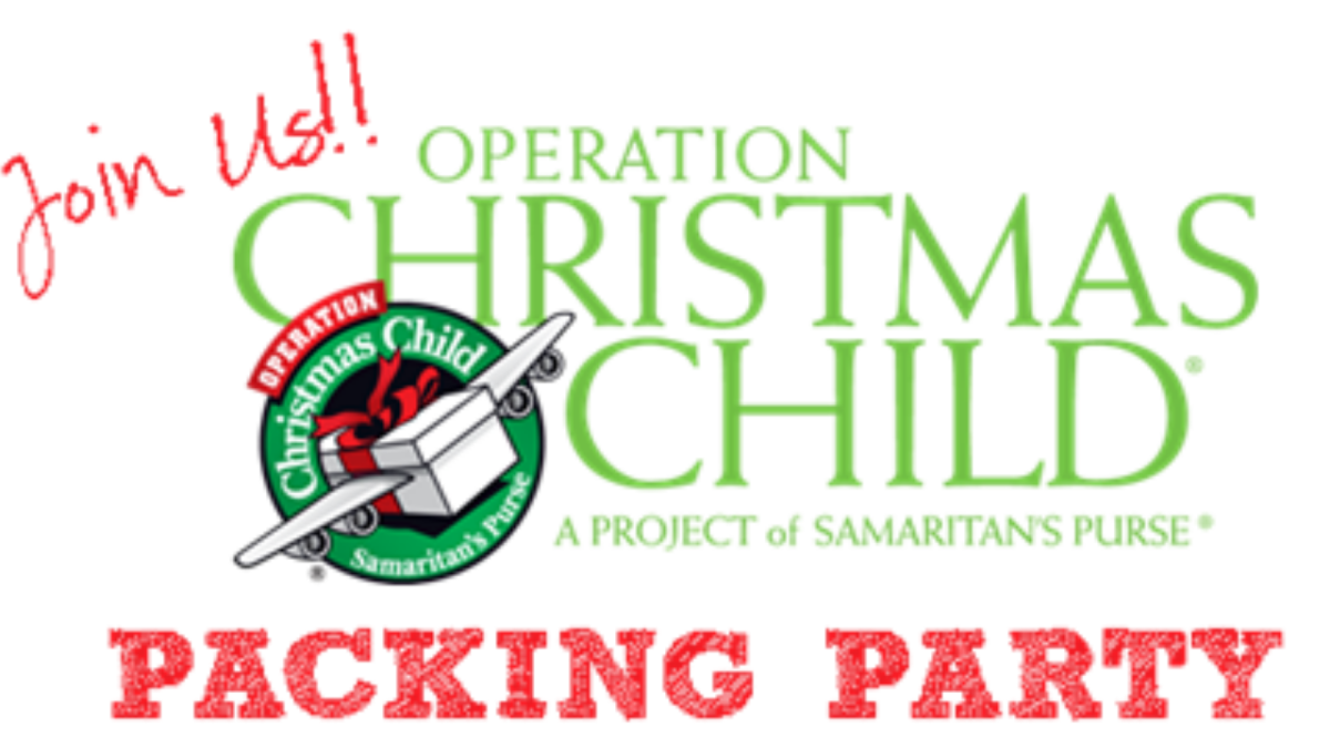 Operation Christmas Child Box Packing Day
